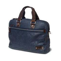 Canvas Messenger Bag Navy