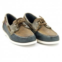Spinnaker Grey/Brown/Navy Leather