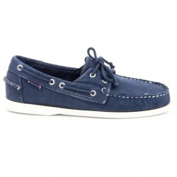 Sebago Docksides Navy Canvas